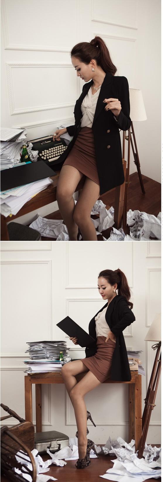 Women Lady Fashion Elegant O Neck Long Sleeved Tunic Dress 8006