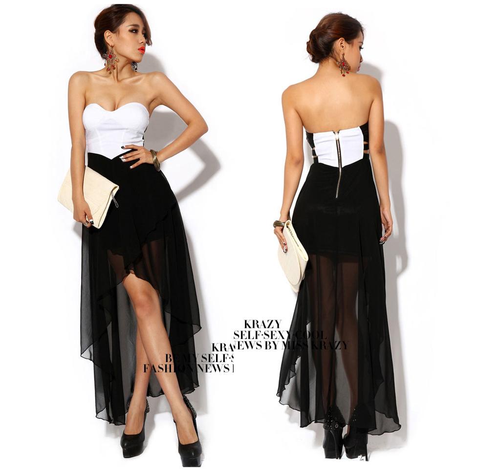 Low cut back dresses