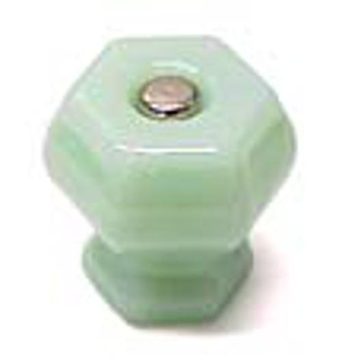 Glass Knobs Jadeite Green Milk Glass Drawer Pulls Vintage