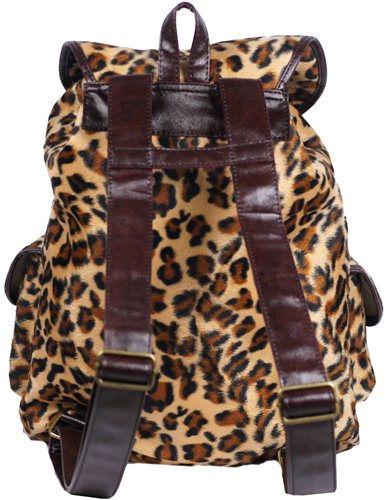 New Sexy Brown Leopard Print Backpack Bag #B21B