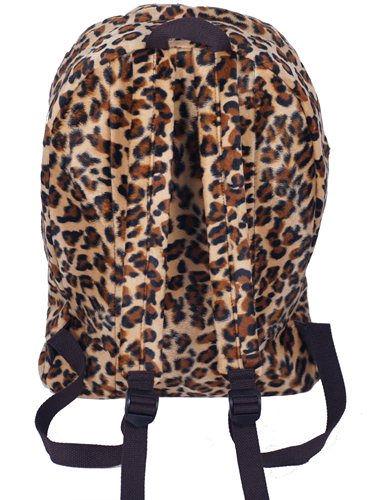 New Stylish Brown Leopard Print Backpack Zip Bag #B062B