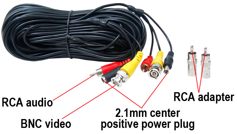 100ft Audio Video Security Camera Cable Cctv Dvr Wire W