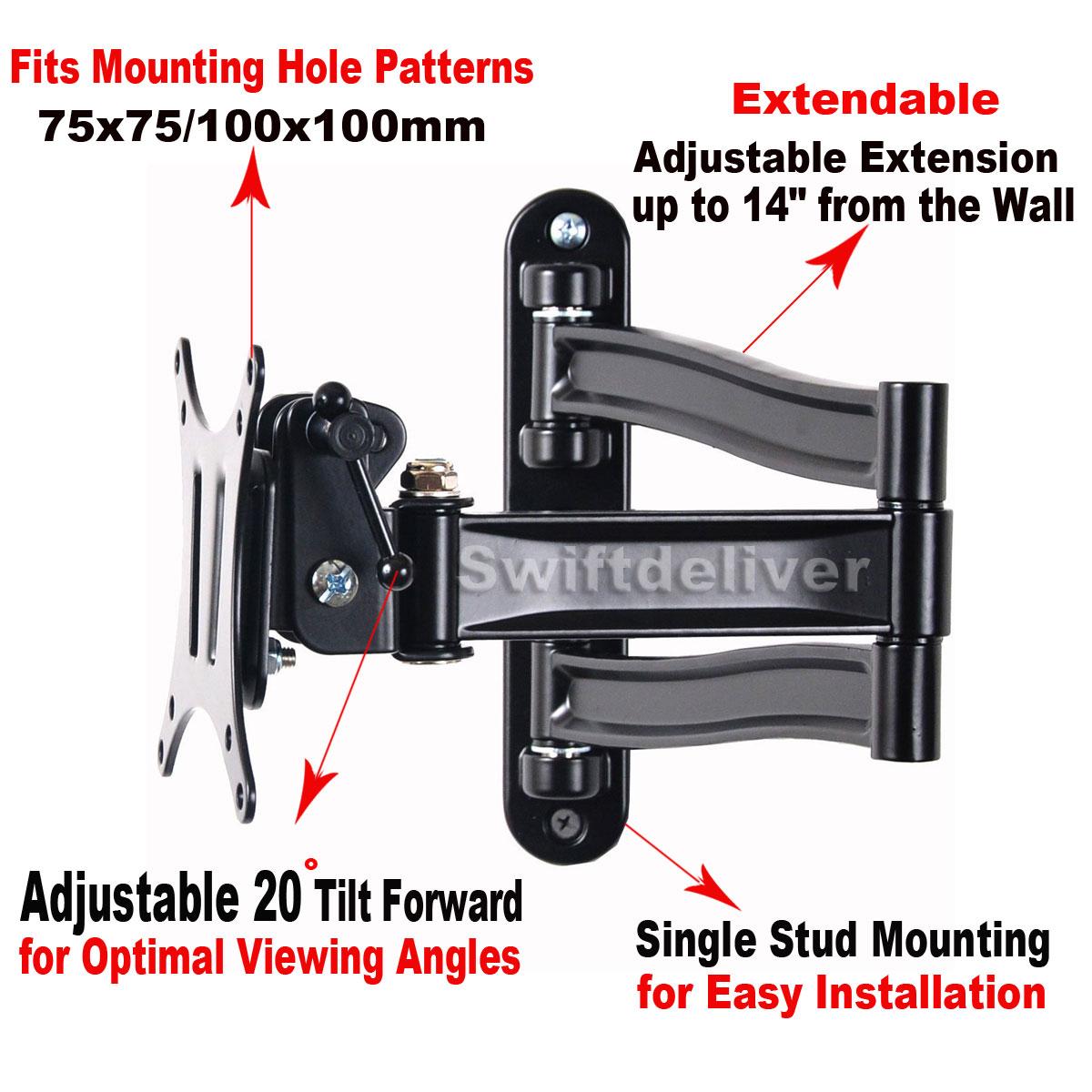 Articulating Tilt Swivel TV LCD LED TV Wall Mount Bracket