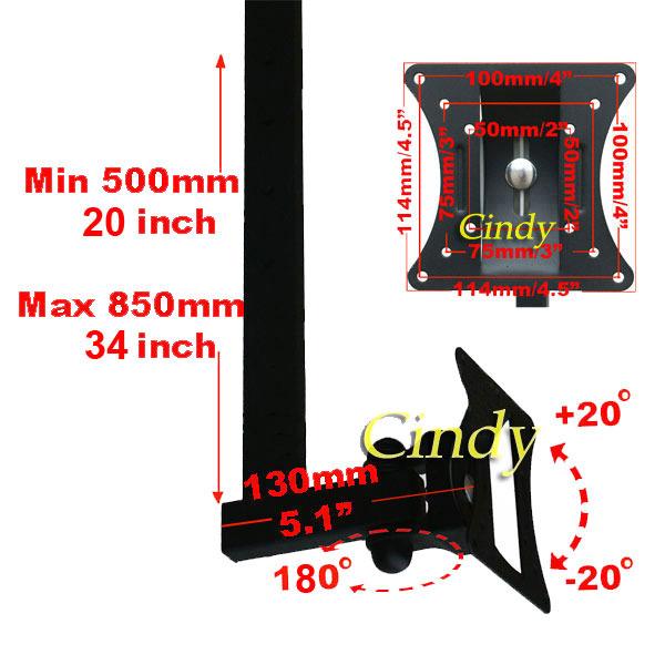 Tilt Swivel Ceiling Mount Flat Panel LCD LED Monitor TV 15 17 19 20 23 24 26 M07