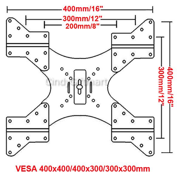 4x Extender TV Wall Mount Adapter Plates for VESA 400/200 ...