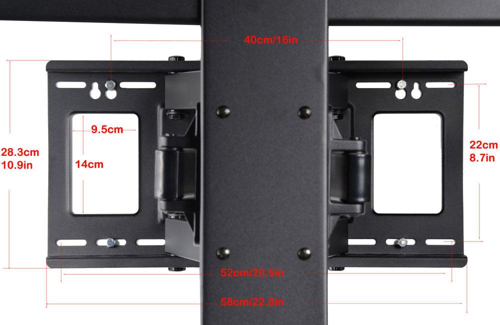 "Articulating Large TV Wall Mount Bracket for 60/"" 64 65 75 78/"" LED UHD Plasma cuf"