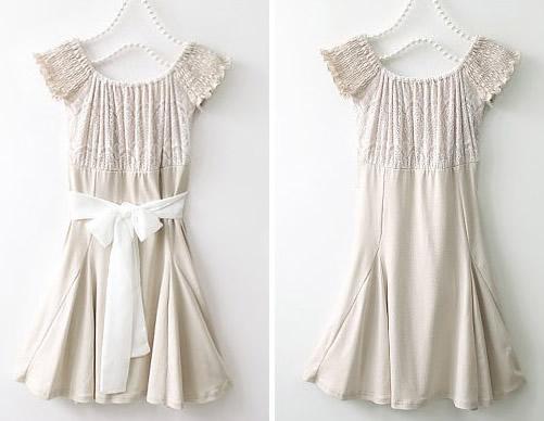 Fashion Korea Sexy Lady Women OFF Shoulder Lace Trim Mini Dress M L