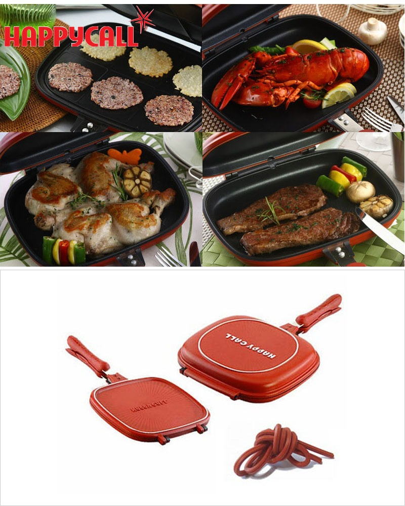 Happycall Double Sided Pan 2pcs Set Dual Pressure