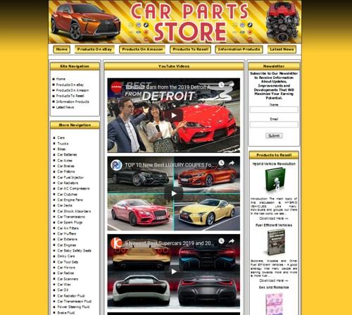 Car Parts Money Making Store Affiliate Website Ebay Amazon Google Clickbank Ebay