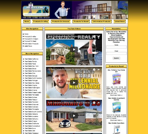 Fully Automated Real Estate Website For Sale Amazon Store Ebay Adsense Clickbank Ebay