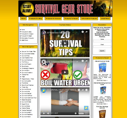 Fully Automated Ready Made Amazon Affiliate Prepper Store Online Income
