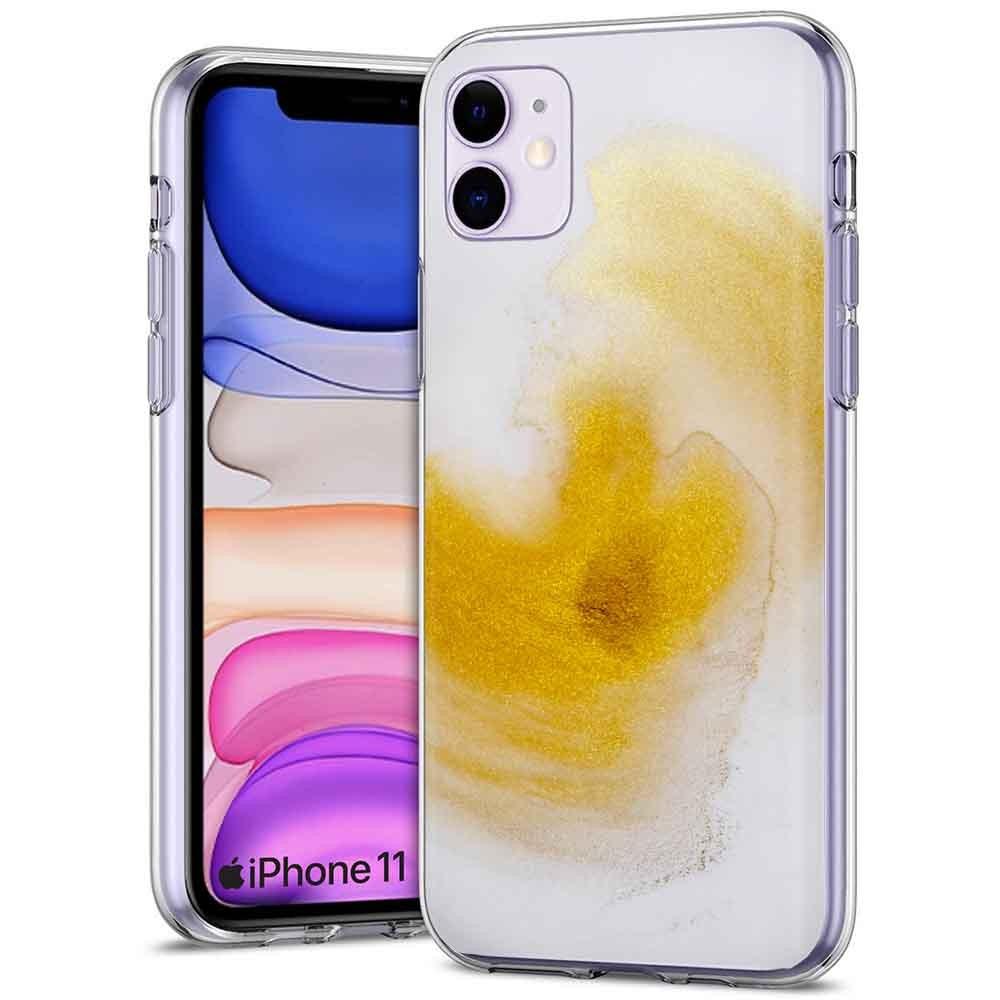 Thin Gel Phone Case Apple iPhone 11,PastelGradient Design Colorful ...