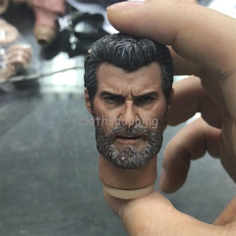 """Conector 1//6 Wolverine Hugh Escultura Velho Homem Logan Cabeça Esculpida Corpo F 12/"""" Figura Toys"""