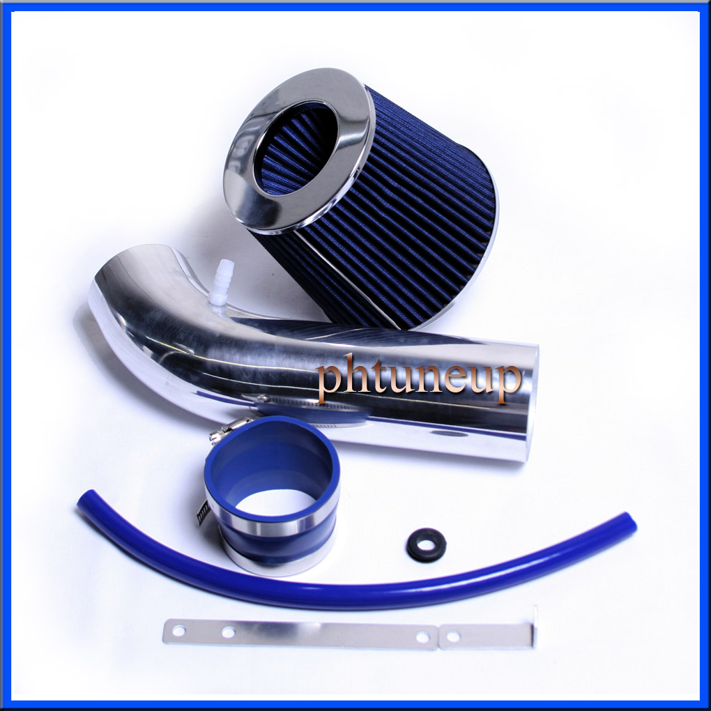 "3/"" BLUE Short Ram Air Intake Filter For 2000-2002 Daewoo Lanos 1.5L 1.6L 4-Cyl"