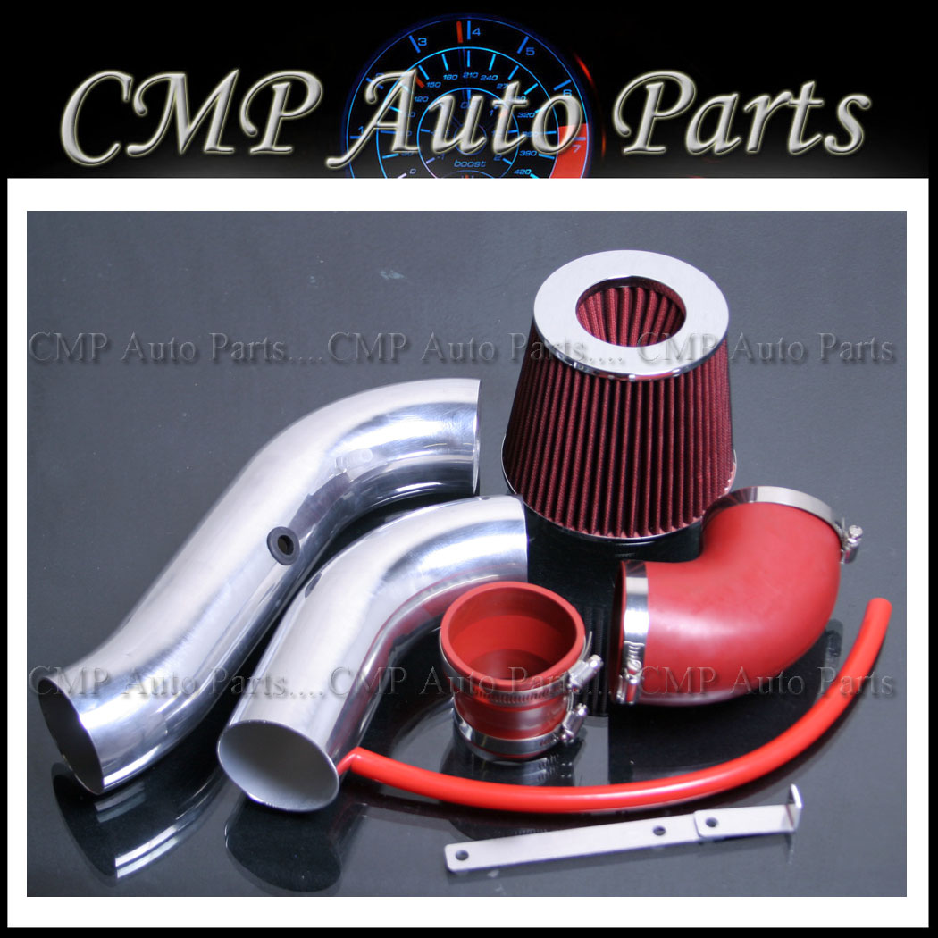 """Filter For 04-08 Aveo 1.6L L4 3/"""" BLACK Cold Air Intake Induction Kit"""