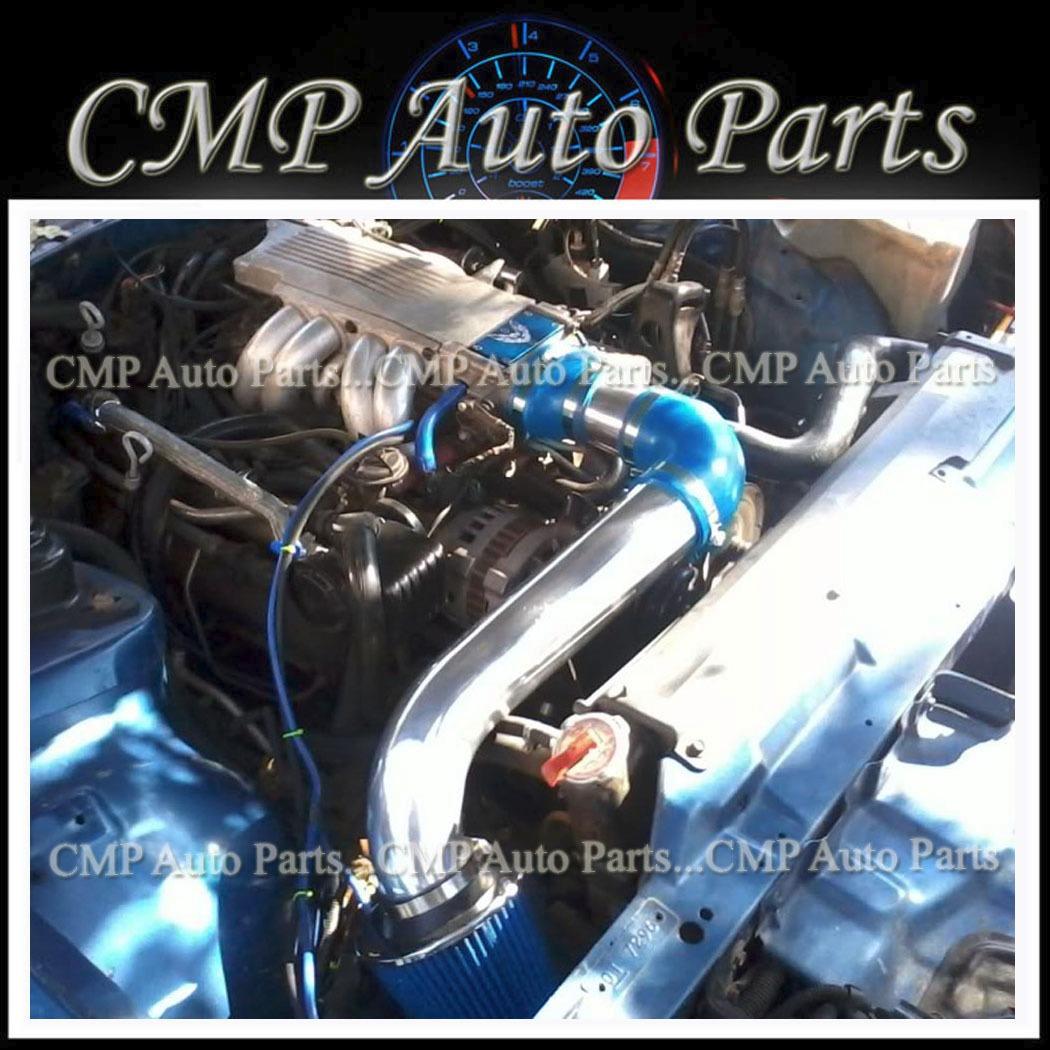 BLACK BLUE AIR INTAKE KIT FIT 1988-1989 PONTIAC FIREBIRD GTA TRANS AM 5.0L 5.7L