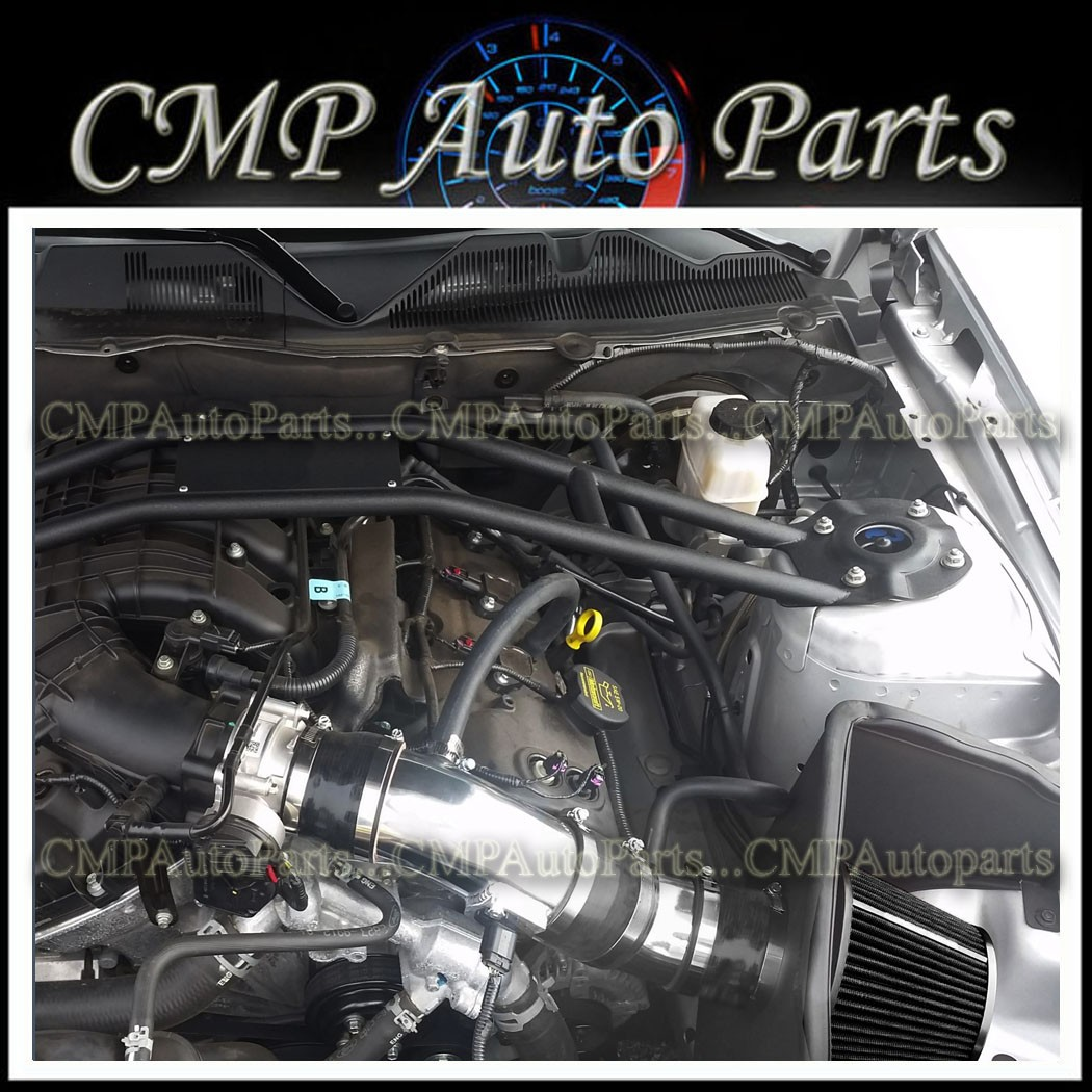 COLD AIR INTAKE SYSTEM FOR 2011-2014FORD MUSTANG V6 3.7L BLACK