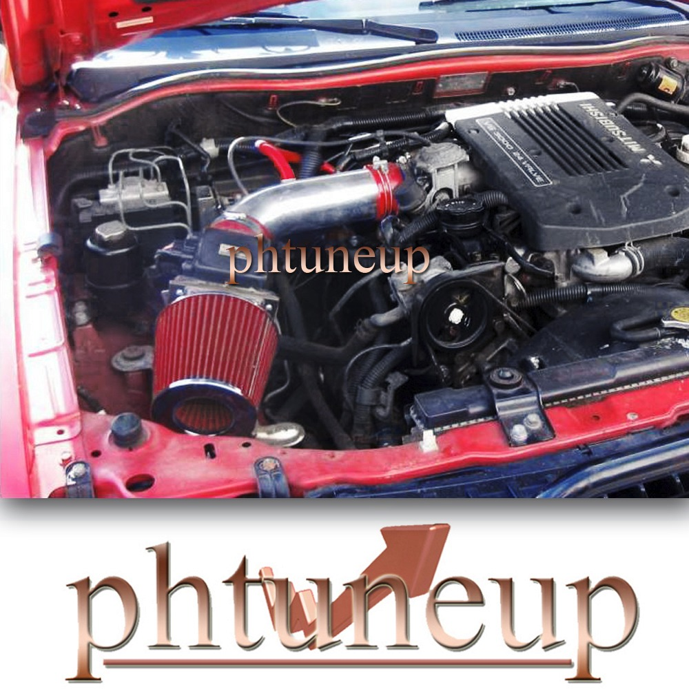 Sport Air Intake Kit BLACK Dry Filter for 92-03 Montero Montero Sport 3.0L V6