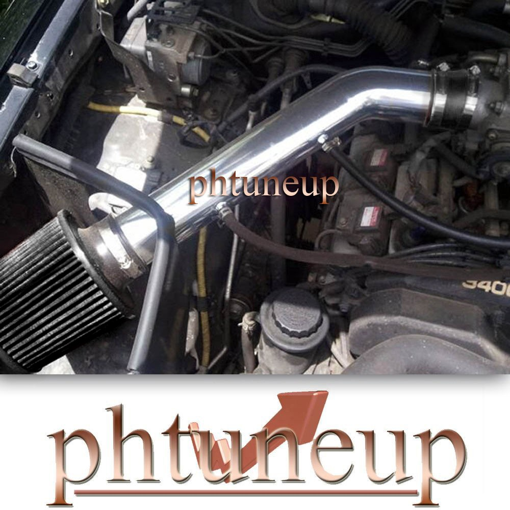 NOT FIT if your car have After Market Turbo Kit 100% BRAND NEW Polish  Finished Aluminum piping. Come with high performance washable Air Filter