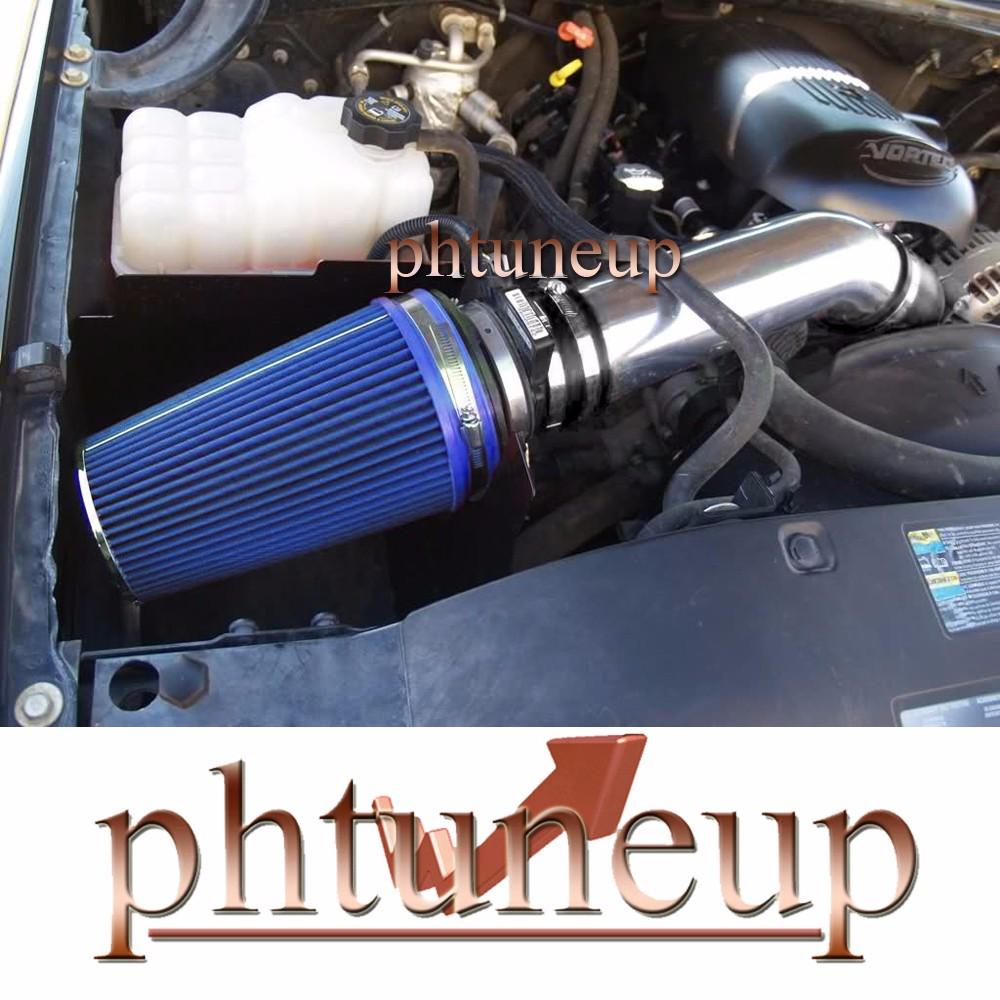 BLUE 1999-2007 CHEVY//GMC//CADILLAC TRUCKS//SUVS 4.8//5.3//6.0//8.1 COLD AIR INTAKE