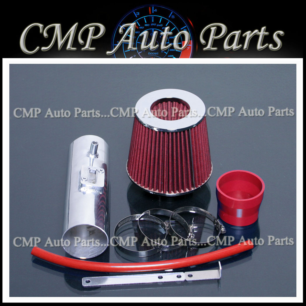 RED AIR INTAKE KIT FIT 2009-2014 ACURA TL 3.5 3.5L 3.7 3