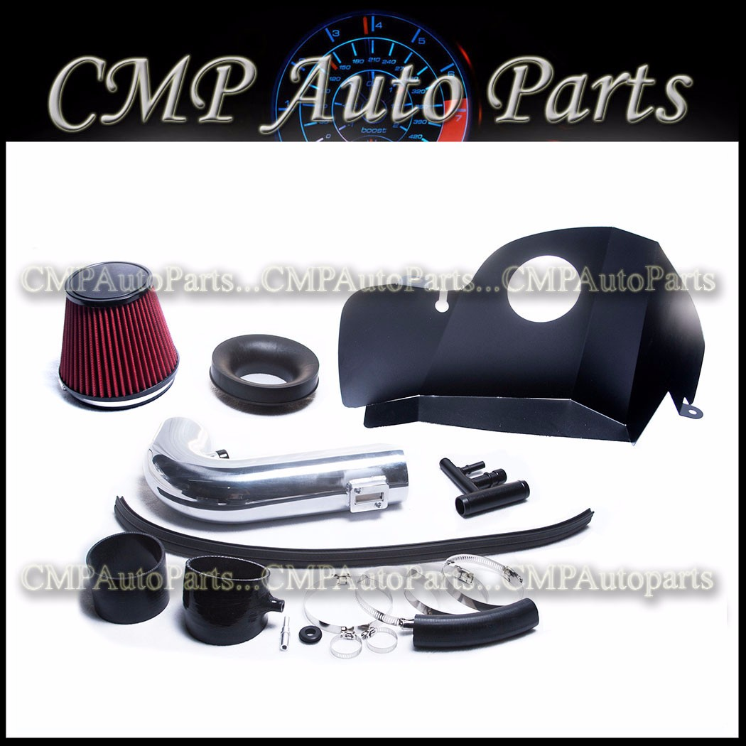 HEATSHIELD COLD AIR INTAKE KIT SYSTEM FIT 2015 2016 2017 FORD MUSTANG//MUSTANG GT 5.0L V8 ENGINE BLACK