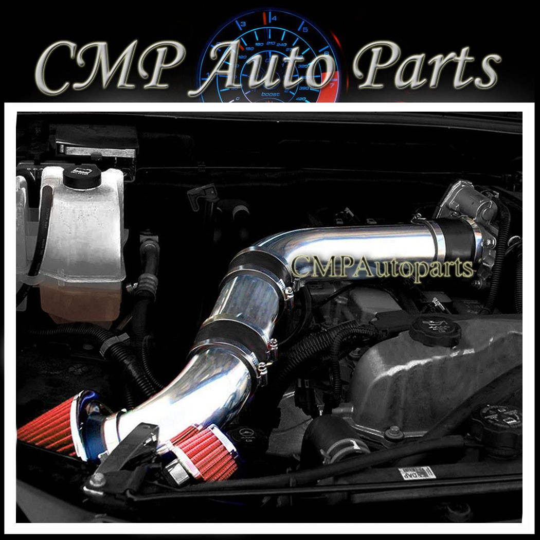 2007-2012 CHEVY COLORADO//GMC CANYON 3.7L AIR INTAKE KIT+K/&N TBH Black Red