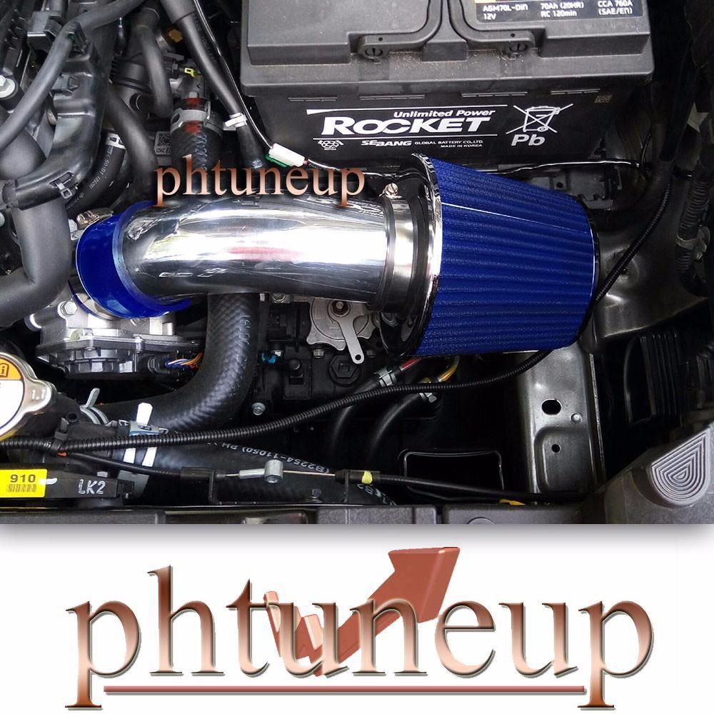 BLUE FULL AIR INTAKE KIT FOR 2004-2008 HYUNDAI TIBURON//2004-2006 ELANTRA 2.0L I4