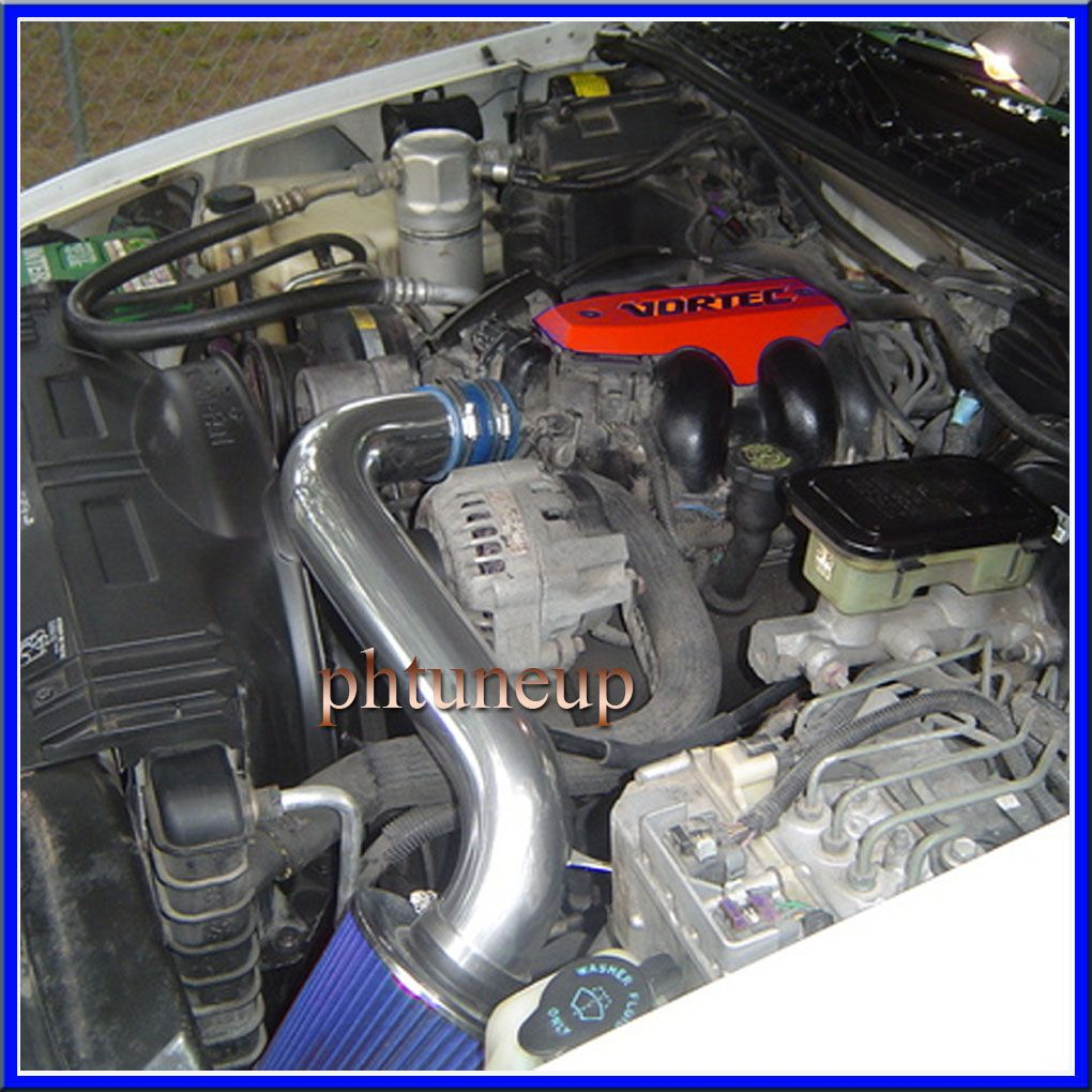 details about blue 1992-1995 chevy s10 blazer 4 3 4 3l v6 ( vortec cpi  only) air intake kit