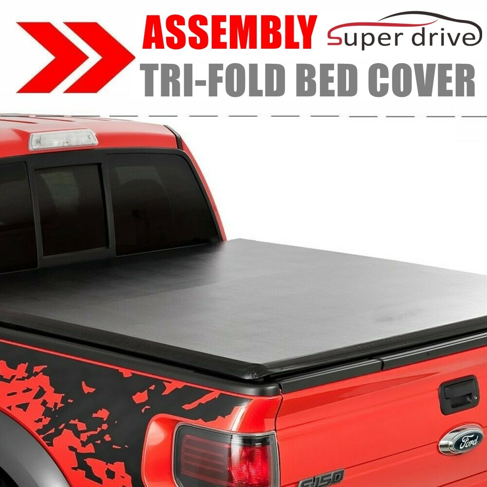 For 2014-2018 Ford F-150 5.5ft//66in Bed Soft Tri-fold Tonneau Cover Assemble