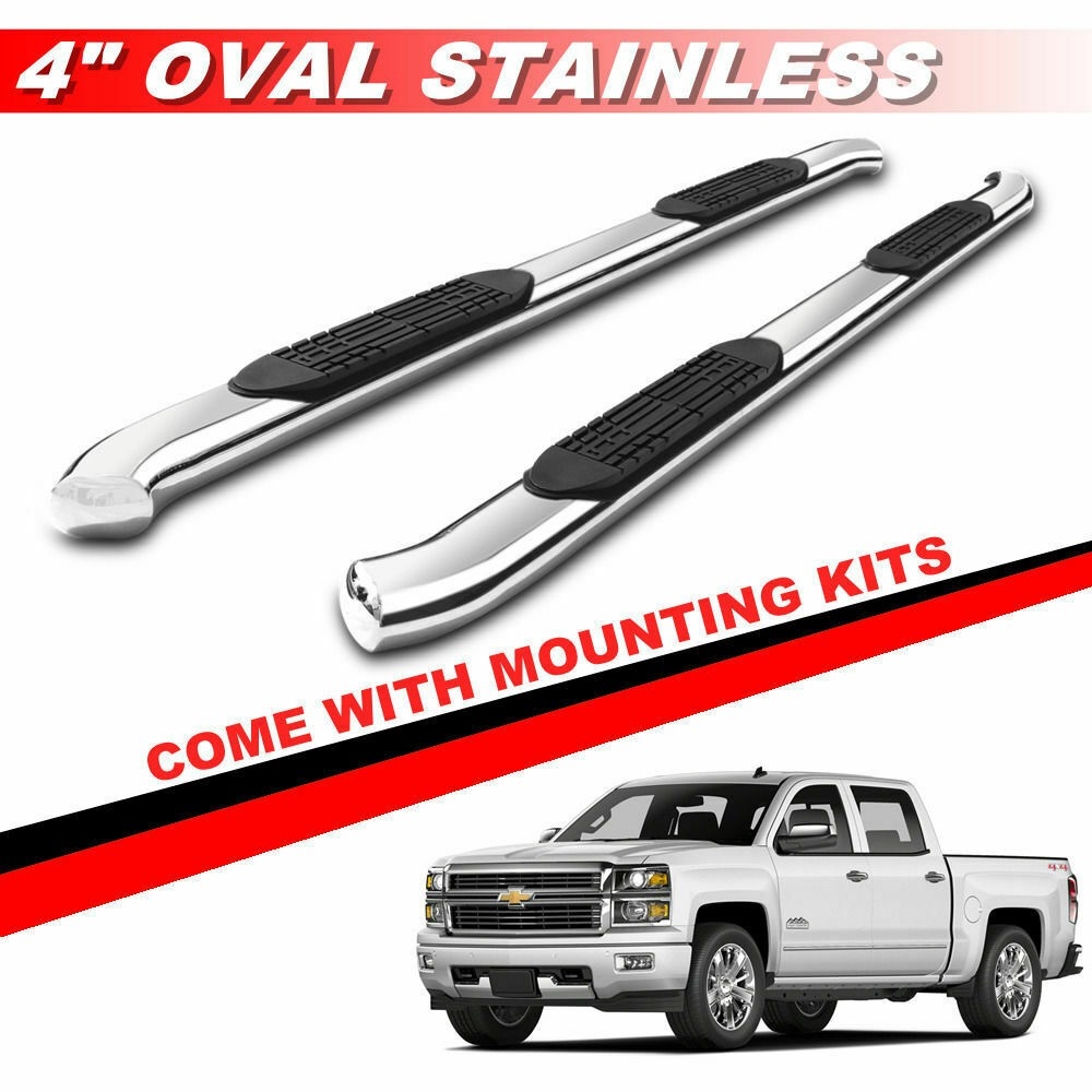 "1999-2018 GMC SIERRA 1500//2500//3500 EXTENDED CAB 4/"" CURVED NERF STEP BAR BLACK"