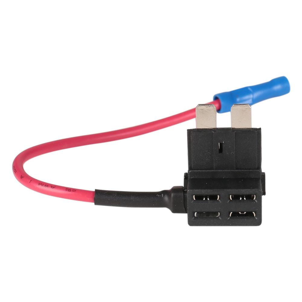 Car 10PCS Add Circuit 10A ACU Piggy Back Tap Standard Blade Fuse Box Holder