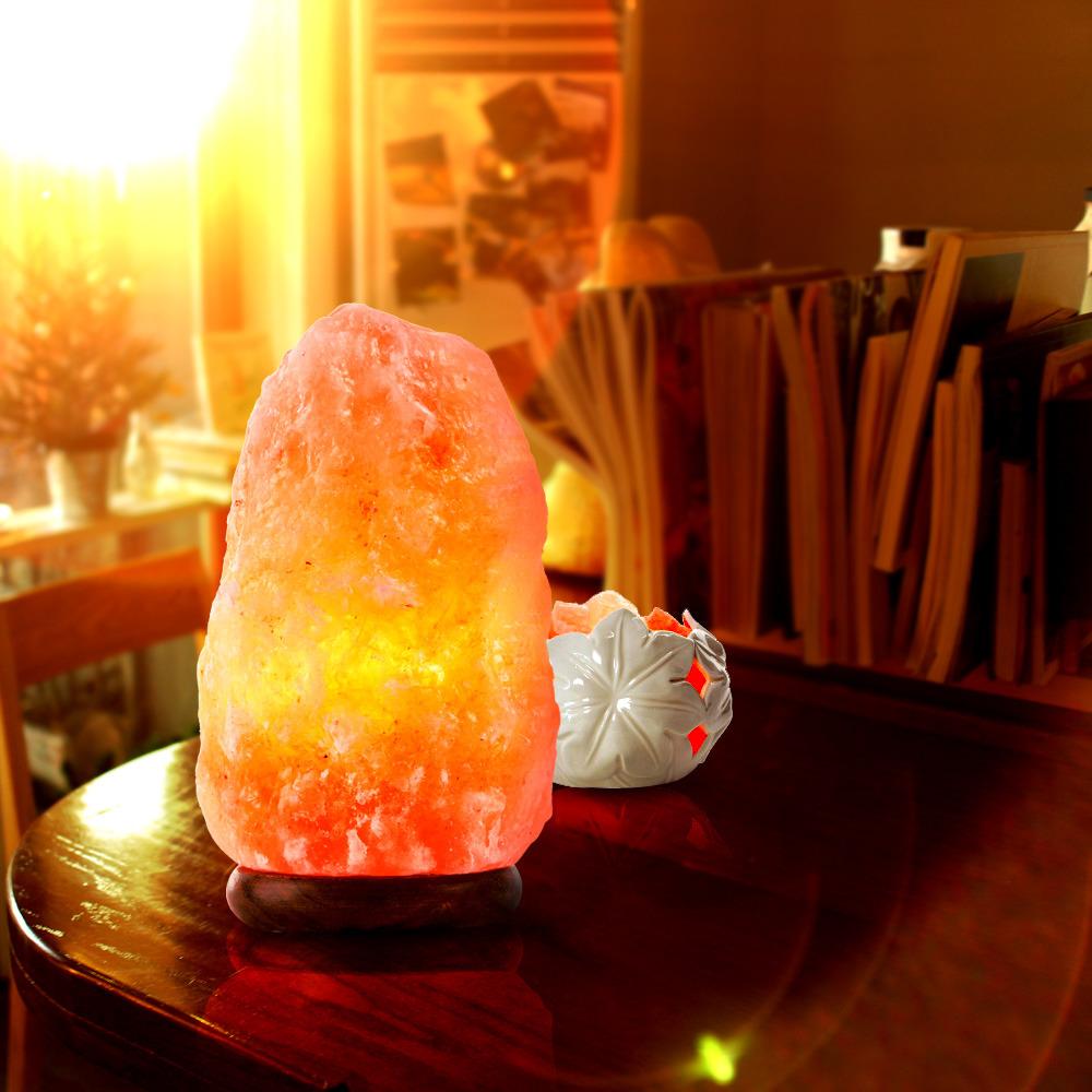 Himalayan Natural Air Purifier Salt Lamp Rock Crystal Tower 4   6 Lbs Pack 2