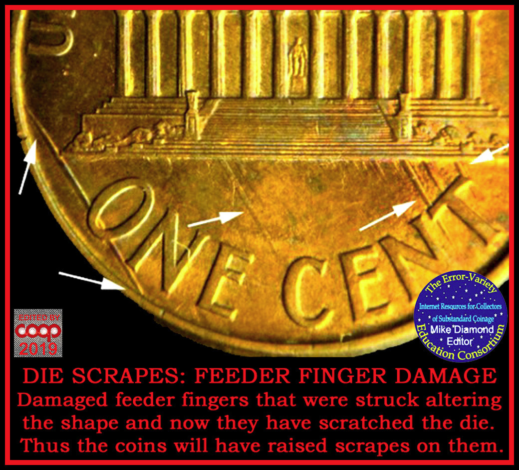 Feeder finger damage: What does it look like? - Coin Community Forum