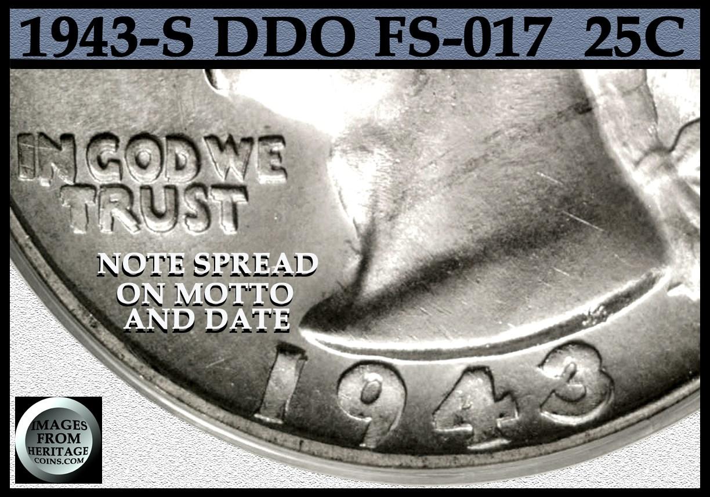 1943 S Double Die Obverse Quarter in this 1943 S WW2 Set