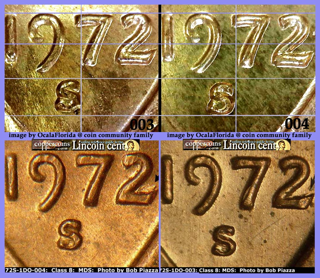 1972-S Lincoln Cent Doubled Die Obverse / DDO -003 & Doubled Die