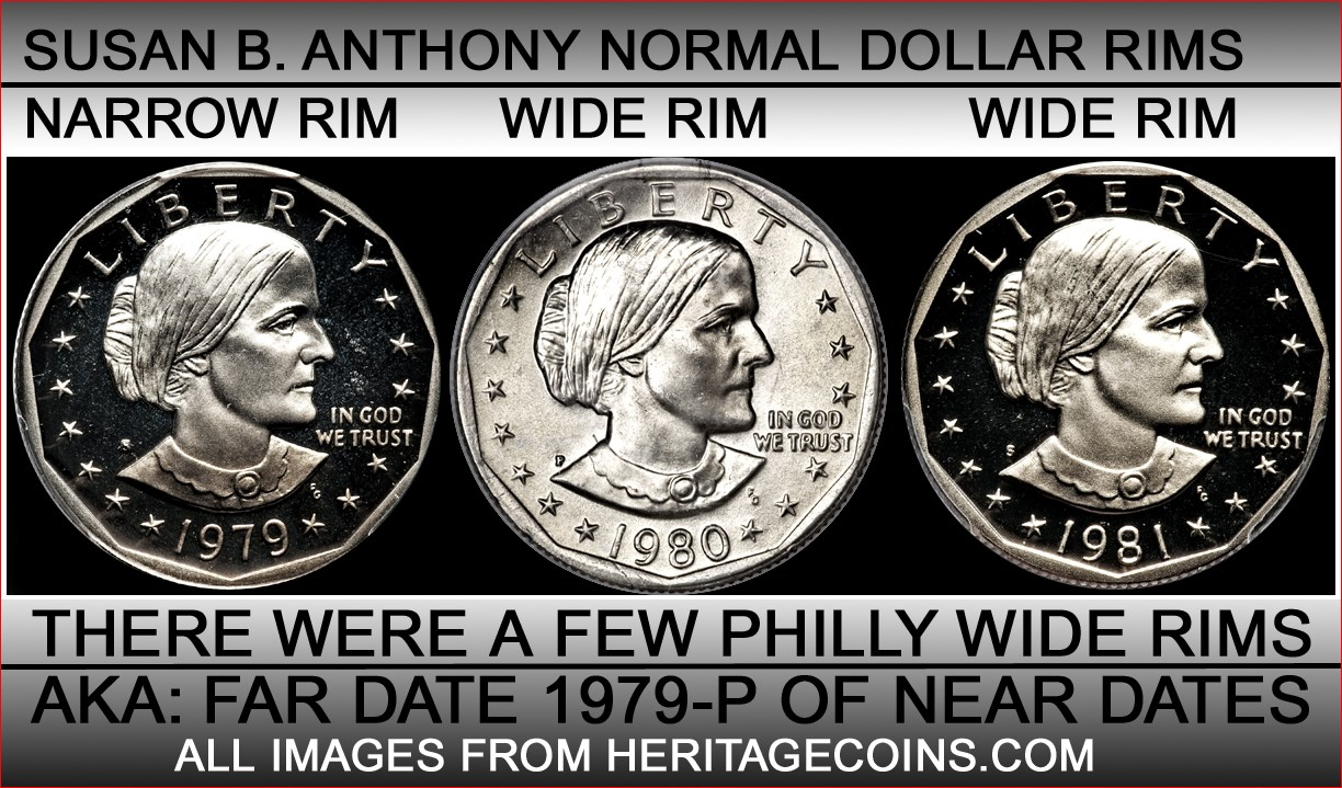 1979 Susan B Anthony wide rim found in circulation  - Coin