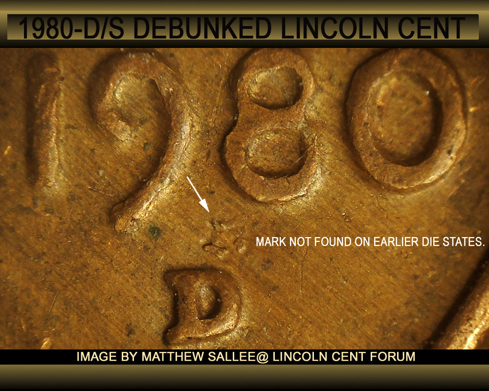 1980 S over D Lincoln cent - Coin Community Forum