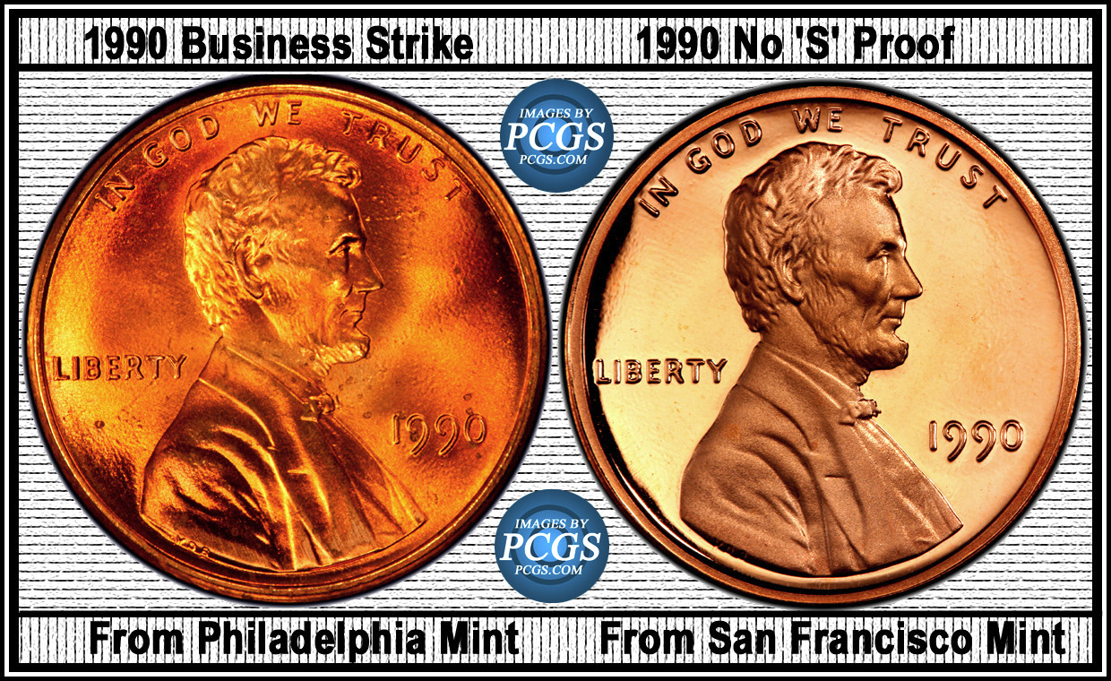 Proof Penny 1990 No S mintmark? - Coin Community Forum