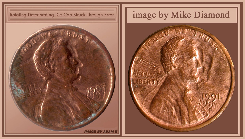 1973 Lincoln Memorial Cent Struck Through Die Cap - Coin