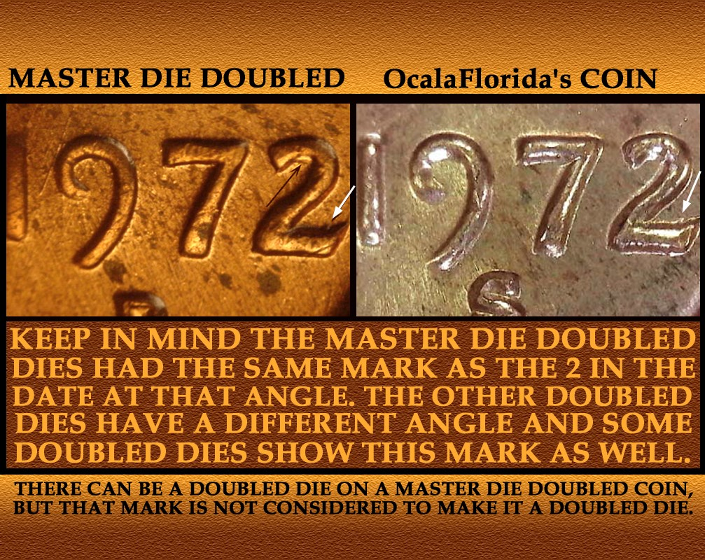 1972-S Lincoln Cent Doubled Die Obverse / DDO -003 & Doubled