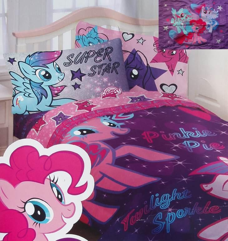 my little pony star purple twin comforter sheets sham 5pc
