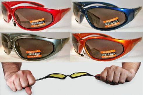 7f5895edc6 Hercules Unbreakable Indestructible Safety Glasses Sunglasses Color Frames  Red