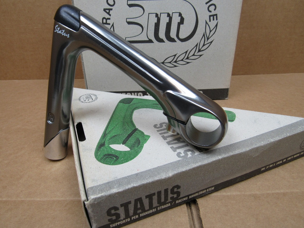 NOS 3T Status Quill Stem w//Gray Finish ...Blemishes 25.8//26.0 mm clamp x 140 mm