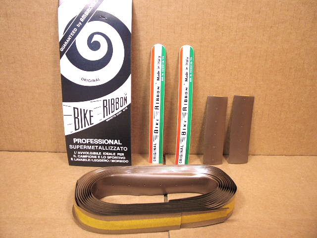 Black New-Old-Stock Iscaselle Padded Bar Tape w//End Plugs