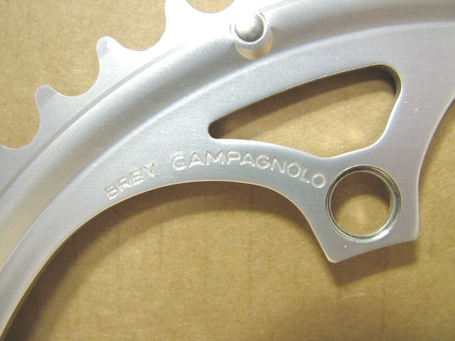 ...Five-Arm Compatible 53x39 New-Old-Stock Campagnolo Double Chainring Set