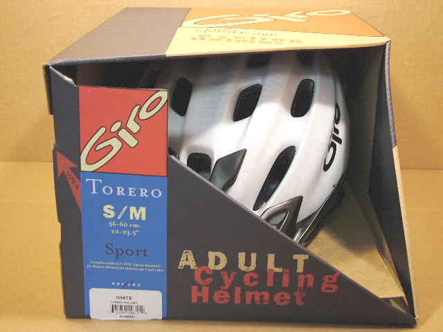 ...Second Quality Size S//M New-Old-Stock Giro Torero Sport Helmet w//White Shell