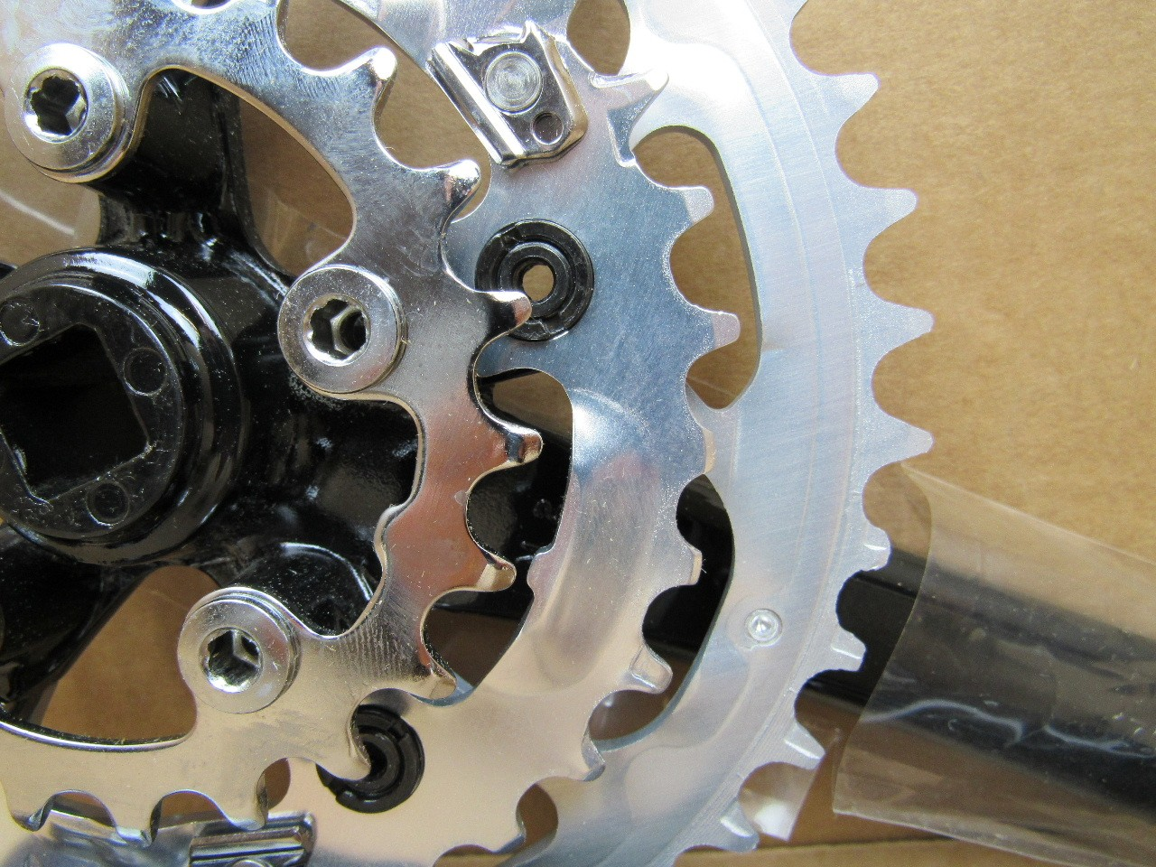 NOS Shimano Deore LX Triple Crankset w//170 mm Crankarms and 42x32x22 Chainrings