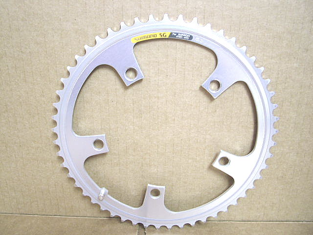 New-Old-Stock Shimano SuperGlide First Generation Chainring..53T and 130mm BCD