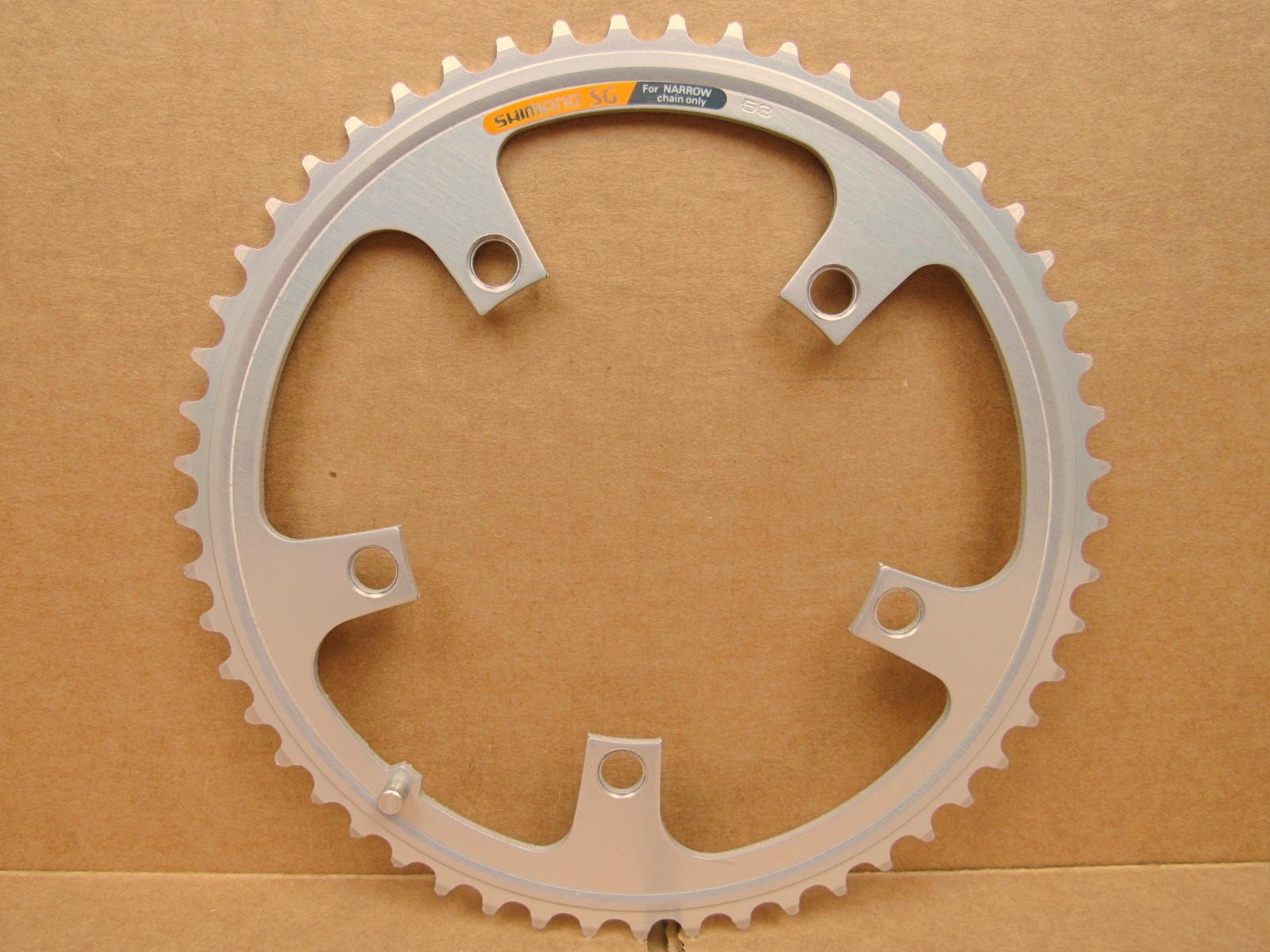 First Generation New-Old-Stock Shimano SuperGlide Chainring..52T and 130mm BCD
